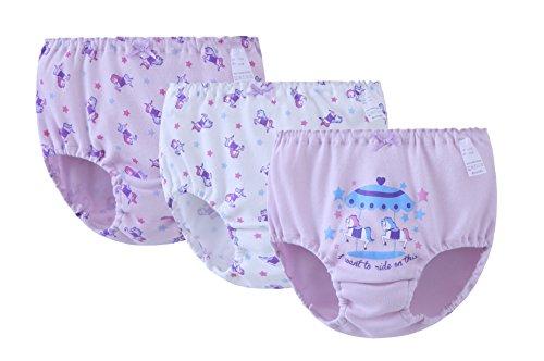 ABClothing Mädchen Karussell Pferd 3er Pack Bikini Briefs Lila 9 Jahre -