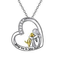 قلادة من الفضة الاسترلينية للكلاب/مجوهرات القطط/هدية الحصان مع حلية متدلية على شكل قلب حب لفتاة لطيفة على شكل حيوان محبات الحيوانات الأليفة