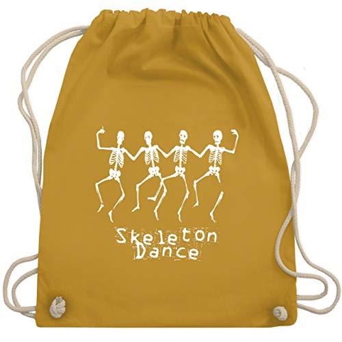Halloween - Skeleton Dance Skelett Tanz - Unisize - Senfgelb - WM110 - Turnbeutel & Gym Bag
