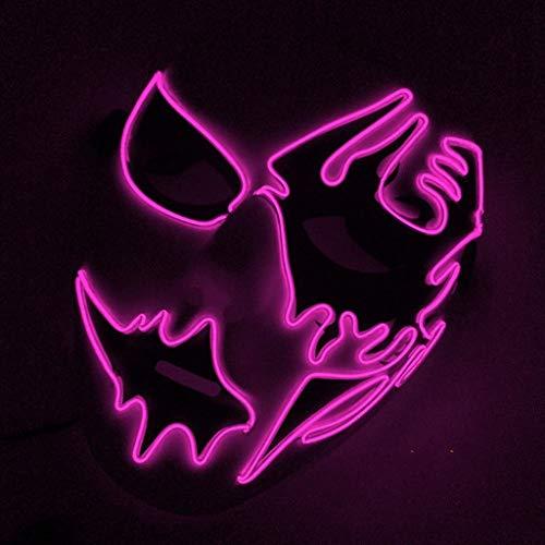 Radiergummi Kostüm Rosa - HS-ZM-06 Halloween LED Maske Kaltes Licht Leuchtende Maske Glänzende Maske Multi Color Cosplay Festival Party Kleidung Bar Dekoration,Rosa