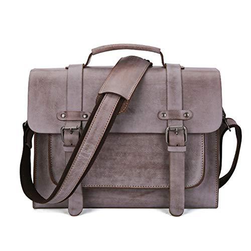 Borsa Ufficio di alta qualità Borsa per laptop in pelle bovina primo strato uomo, valigetta per ufficio, borsa a tracolla enorme resistente all'acqua borsa da lavoro messenger per uomo borsa a tracoll