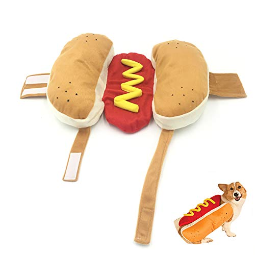 Xiton Kreative Haustier-Kleidung Hot Dog Form Hundekostüm Haustier-Winter-Mantel-M