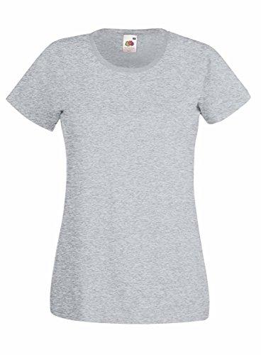 Tshirt Fruit of the loom tshirt da donna Valueweight Women Short Sleeve 100% cotone - Tutte le taglie by tshirteria Grigio