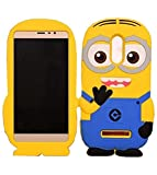 #6: Redmi Note 4 Back Cover - WPRIE Printed 3D Cartoon Minion Soft Rubber Silicone Back Cover Case For Redmi Note 4 Back Cover