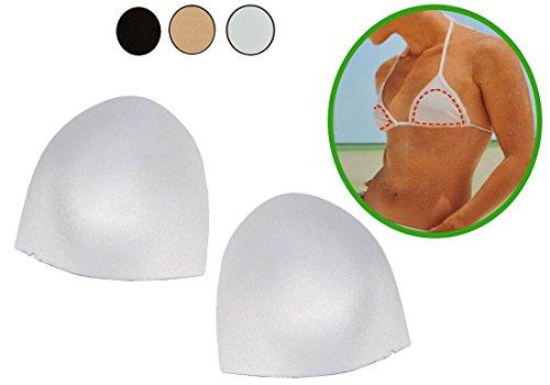 Preisvergleich Produktbild alles-meine.de GmbH 2 tlg. Set BH Einlagen / Schalen Dünn - Leicht & Formstabil -HALBRUND - in Weiß - Größe L Einlage