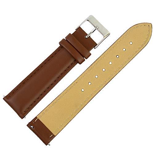 Clarkwatches Uhrenarmband 16mm Leder in Braun mit Schnellverschluss