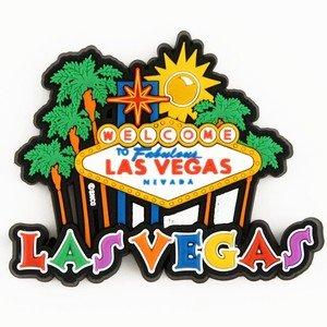 Las Vegas Magnet Schild und Palmen spellout Laser 30684 (Las Vegas Cup)
