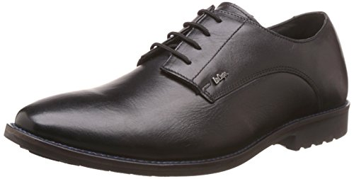 Lee Cooper Men's Black Leather Formal Shoes - 9 UK/India (43 EU)