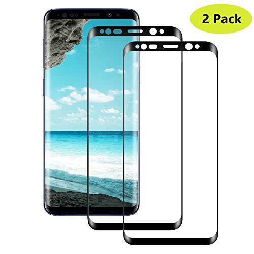 Temsesen Protector de Pantalla Samsung Galaxy S8 [2 Piezas], Samsung Galaxy S8 Cristal Templado [9H Dureza][Ultra-Transparente][2.5d Borde Redondo][Resistente a Arañazos], Galaxy S8 Vidrio Templado