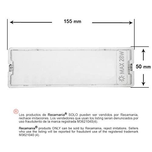 REcamanía ® - Deflector campana extractora Fagor Edesa Aspes 50x155mm AF2647 KE0001537