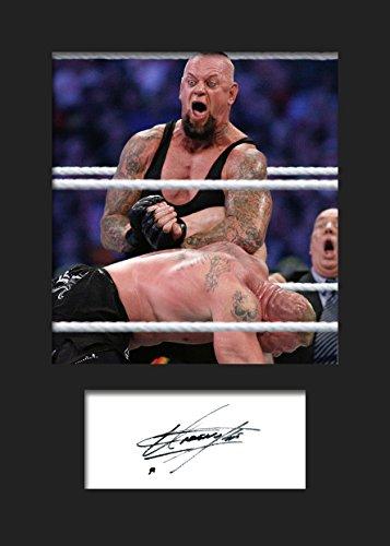 The Undertaker WWE Signiertes Foto mit Passepartout, # 2, A5, Druck