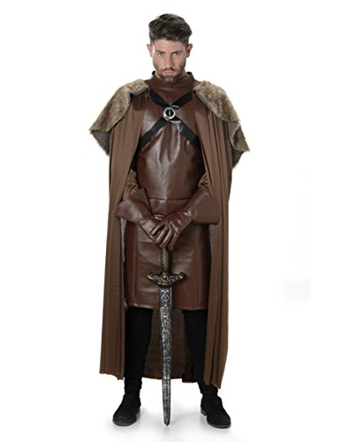 Costume da cavaliere medievale Guerriero da uomo vestito Game of Thrones per adulti
