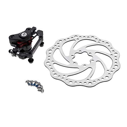 CUTICATE Bremsscheibe 160mm Fahrrad Bremse Disc mit Bremssattel für Mountainbike Rennrad - hinten -