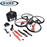s-idee® 01162 Quadcopter mit Kamera 4.5 Kanal 2,4 Ghz Quadrocopter RC ferngesteuerter Hubschrauber/Helikopter/Heli mit GYROSCOPE-TECHNIK + 2,4Ghz TECHNOLOGIE!!! für INNEN und AUSSEN brandneu mit eingebautem GYRO und 2.4 GHz Steuerung! FLUGFERTIG!