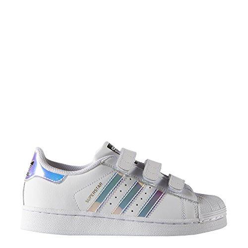 adidas Superstar CF C, Scarpe da Fitness Unisex-Bambini, Bianco (Blanco 000), 35 EU