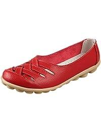 Vogstyle Mujeres Nuevo Cuero Sandalias De Tacón Bajo Zapatos Casual ZY005