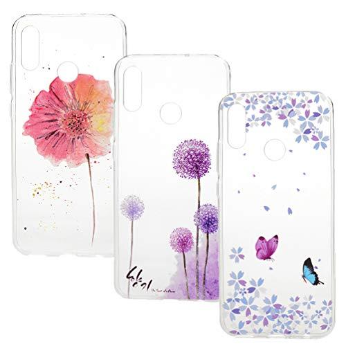 Vogu'SaNa Handyhülle Kompatible mit Huawei P Smart 2019/Honor 10 Lite Hülle Case Cover Silikon Transparent Tasche Durchsichtig Schutzhülle Handytasche Dünn Skin Soft Schale Bumper Handycover*3-Set5