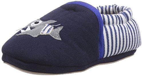 Giesswein Baby Jungen Bodensee Krabbel- & Hausschuhe, Blau (dk.blau-548), 18 EU