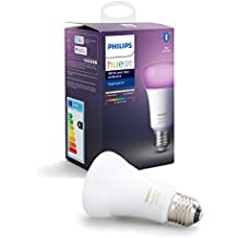 Philips Hue White and Colour Ambiance Single Smart Bulb LED [E27 Edison Screw] with Bluetooth, Works with Alexa and Google Assistant, A Certified for Humans Device.