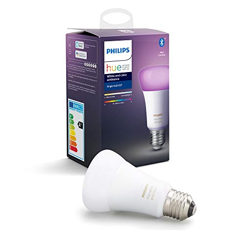 Philips Hue White and Colour Ambiance Single Smart Bulb LED [E27 Edison Screw] with Bluetooth, Works with Alexa and Google Assistant