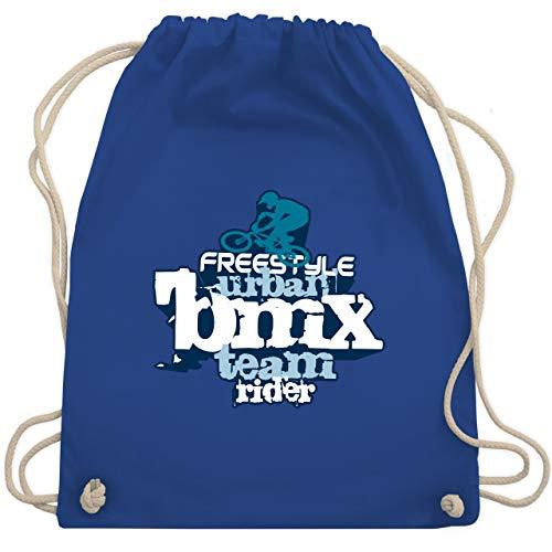 Kordel Extra Großer Schrift (Radsport - BMX - Unisize - Royalblau - WM110 - Turnbeutel & Gym Bag)