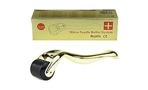 TBPHP Micro Needle Roller,540 microagujas de acero inoxidable quirúrgico de 0.5mm de grosor,Reducir la Hiperpigmentación,Reducir Ojo Líneas Finas, Crecimiento del Cabello