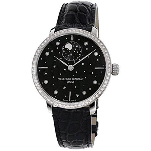 FREDERIQUE CONSTANT Men's Slimline 38.8MM Black Automatic Watch FC-701BSD3SD6