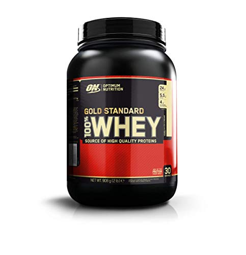 Optimum Nutrition Gold Standard Whey Protein Pulver (mit Glutamin und Aminosäuren. Eiweisspulver von ON) Vanilla Ice Cream, 29 Portionen, 0,9kg -