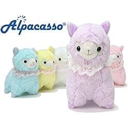 """KOSBON 7""""encaje bufanda 100% Alpaca, cute de peluche suave animales de peluche juguetes de felpa, mejor cumpleaños y Navidad regalos para los niños Niños"""