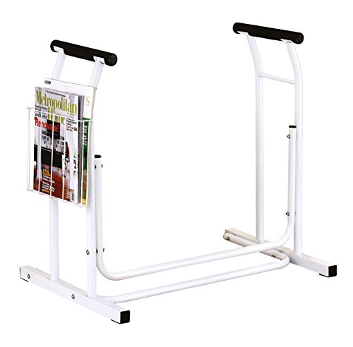Toilettenstützgestell mobile Toiletten-Aufstehhilfe Stütze inkl. Ablagekorb *Top-Qualität zum Top-Preis*