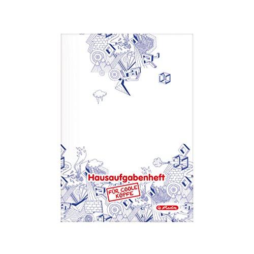 Herlitz Aufgabenheft für coole Köpfe, A5, holzfreies Papier, 80 g/m², 48 Blatt, weiß