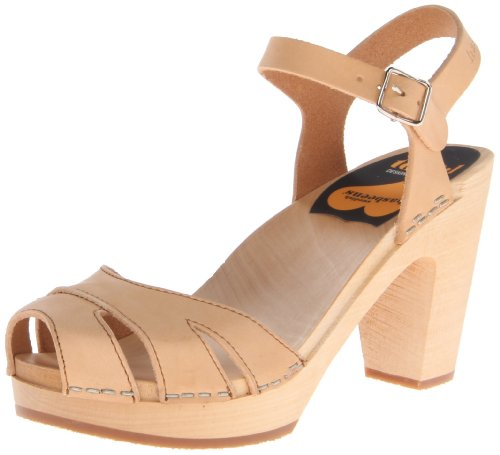 Swedish Hasbeens Suzanne, Sandales  Bout ouvert femme Beige (Nature)