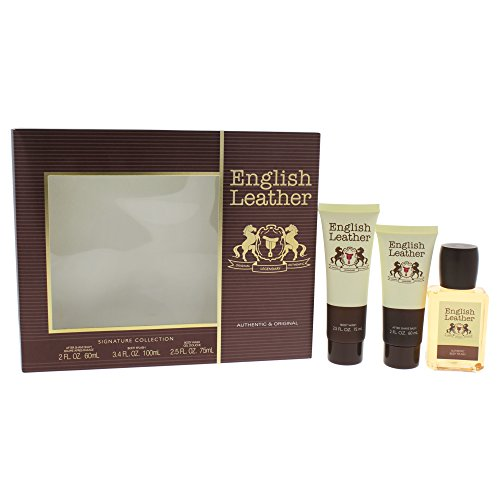 English Leather 3 Piece Gift Set: After Shave Balm, Body Wash, and Body Splash by Dana