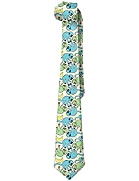 Sweet grape Mens Blue Green Monkeys Have Bas Novelty Necktie Tie Choker