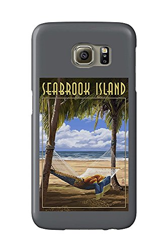 Seabrook Island, South Carolina - Hammock and Palms (Galaxy S6 Cell Phone Case, Slim Barely There) -