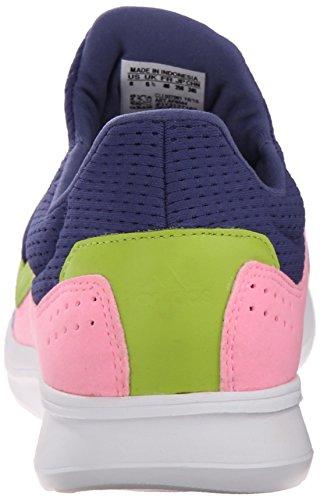 Adidas Performance Lite Slip-on Running Shoe, noir / noir / blanc, 5 M Us Raw Purple/Raw Purple/Pink