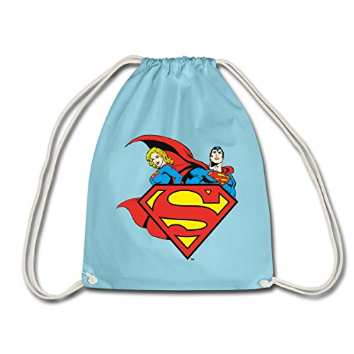 Spreadshirt DC Comics Originals Superman Supergirl Logo Sac de sport léger