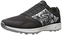 Skechers Performance Womens Go Golf Birdie Tropic Golf Shoe, Black/White Tropic, 7 M US