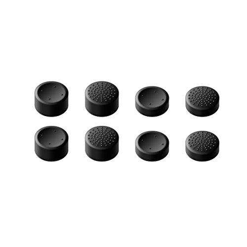 GameSir Xbox One Controller-Daumengriffe, Griffbefestigungen für analoge Sticks für Skins für Xbox One TM / Slim TM -Controller, Beste Caps für Gaming - Schwarz (8-Pack) Silikon Skin Pack