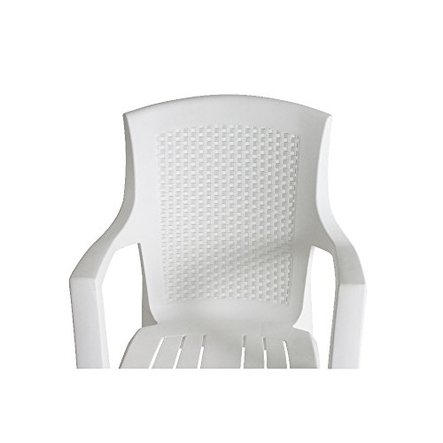 Progarden 87100 Eden Sedie Di Plastica Pienoretro Intrecciato Bianco