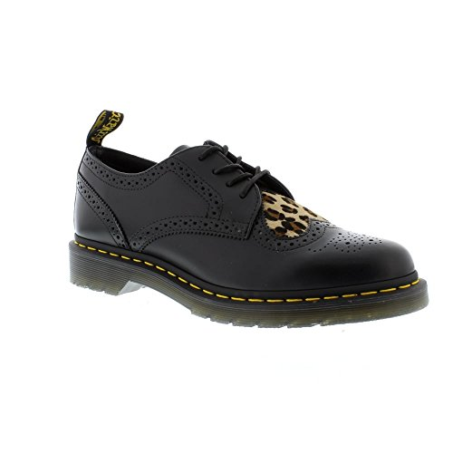 Dr. Martens Joyce Heart - Black Medium Leopard Polished Smooth/Italian Hair On