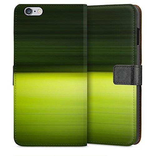 """artboxONE Handyhülle Apple iPhone 5s, weiß Downflip-Case Handyhülle """"Bewegter Wald Case"""" - Abstrakt - Smartphone Downflip Case mit Kunstdruck von Jan Kerpen Sideflip Case weiß"""
