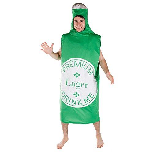 Lebensmittel & Getränke Kostüm für Erwachsene (Bierflasche) (Die Kostüme Fallen)