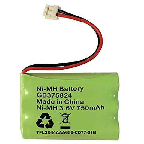 Replacement Battery for Motorola MBP30 Baby Monitor MBP30PU Rechargeable Battery Pack NiMH 3.6V 750mAh GB375824 TFL3X44AAA650-CD77-01B