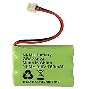 Batteria di ricambio per Tomy Walkabout Platinum Baby Monitor batteria ricaricabile NiMH 3,6 V 750 mAh GB375824 tfl3x44aaa650 - cd77 - 01B