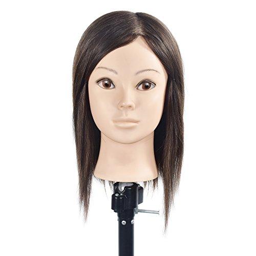 Cabezales de formación profesional de la peluquería del maniquí pelo humano natural del pelo del cabello humano del 100% Cabezas de la muñeca del maniquí con la abrazadera libre de la tabla