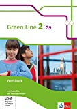 Green Line 2 G9: Workbook mit 2 Audio-CDs und Übungssoftware Klasse 6 (Green Line G9. Ausgabe ab 2015)