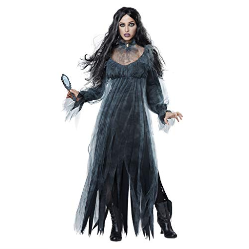 Cosplay Kostüm Halloween Kostüm Horror Geist Braut Zombie Frauen Halloween Vintage Hexe Langarm Maxi Kleid Frauen Halloween Horror Ghost Bride Zombie Blutiger Vampir Teufel Kostüm Bar Party Stage