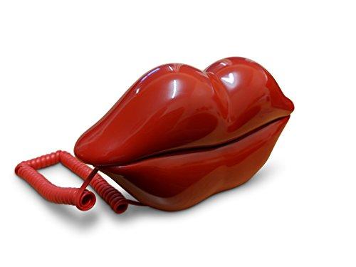 """Novedad rojo diseño """"labios con cable/con cable Land Línea Teléfono (no toma de corriente)"""