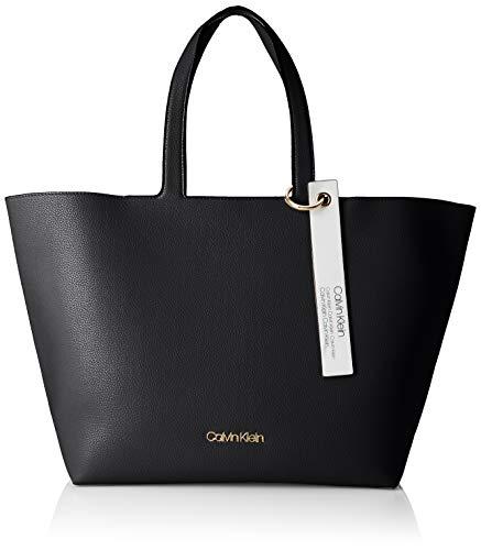 Calvin Klein Damen Neat Ew Shopper Tote, Schwarz (Black) 15.5x31x43 cm (Kleiner Shopper)